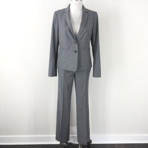 Ann Taylor 2 4 Gray Pant Suit Career Cocktail EUC